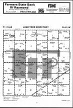 Lone Tree T118N-R37W, Chippewa County 1984 Published by Farm and Home Publishers, LTD